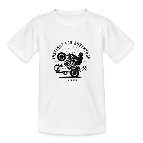 Two Wheeled Ape Wheelie Biker T shirt - Teenage T-Shirt
