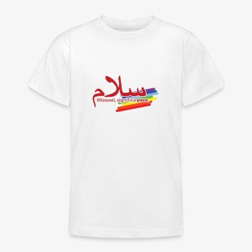 rilassati significa pace colori arcobaleno - Maglietta per ragazzi
