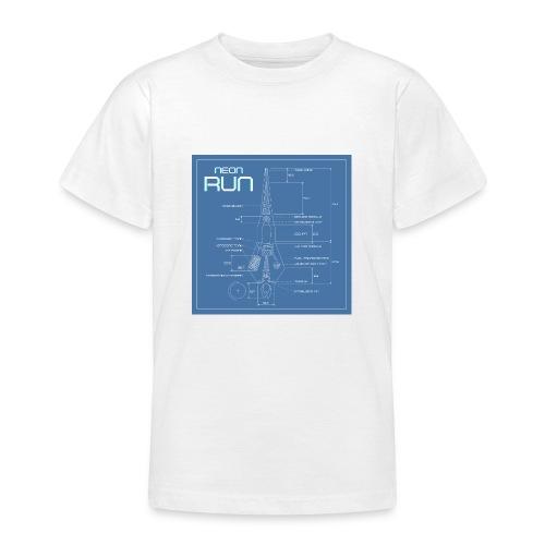 NeonRun blueprint - Teenager T-shirt