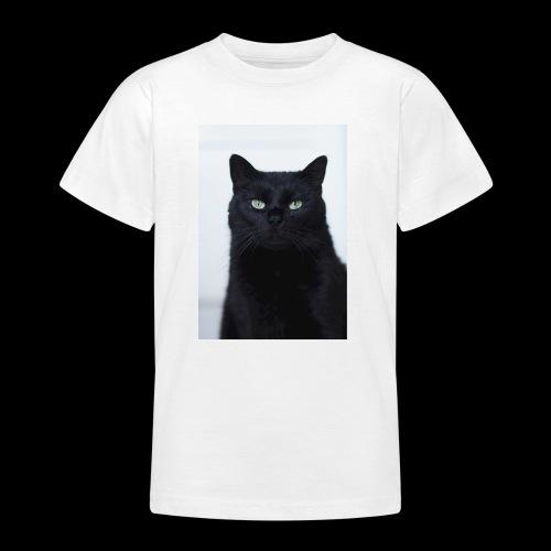 Schwarze Katze - Teenager T-Shirt
