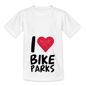 I HEART BIKE PARKS - Teenager T-Shirt