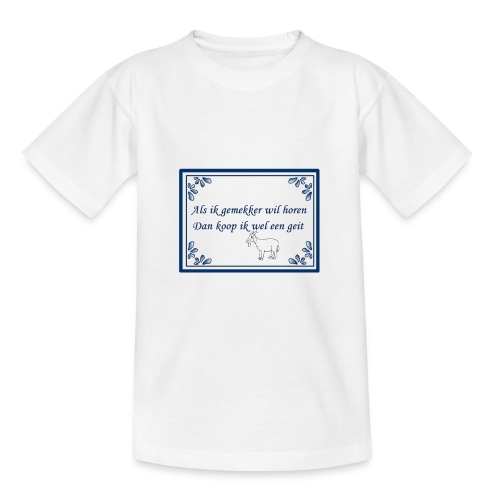 Tegeltje-Geit - Teenager T-shirt