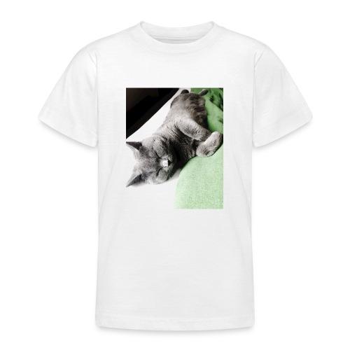 Träumender Kater lädt zum Kuscheln ein - Teenager T-Shirt