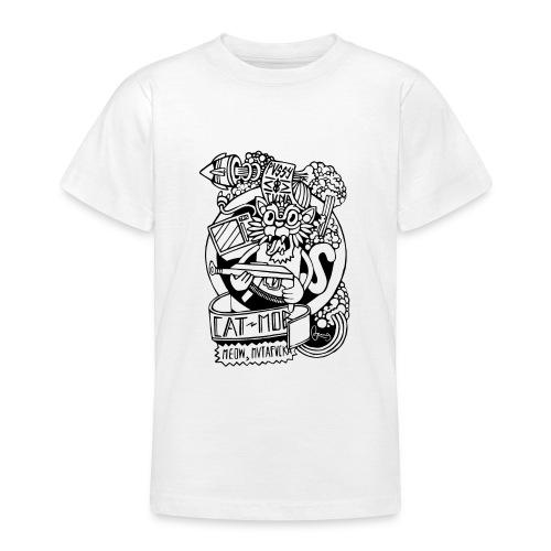 #CATMOB: Meow, mutafucka! (Outline) - Camiseta adolescente