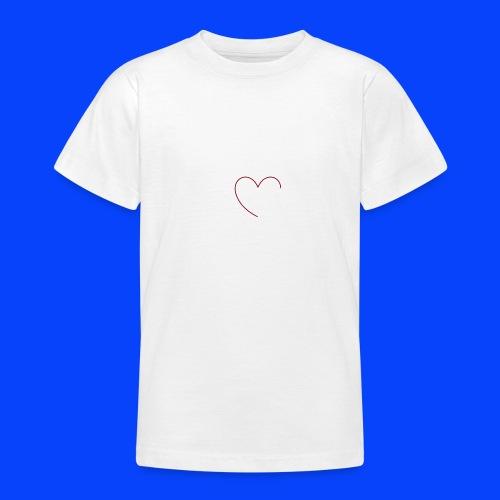 t-shirt bianca con cuore - Maglietta per ragazzi