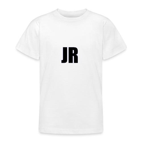 logo zwart - Teenager T-shirt