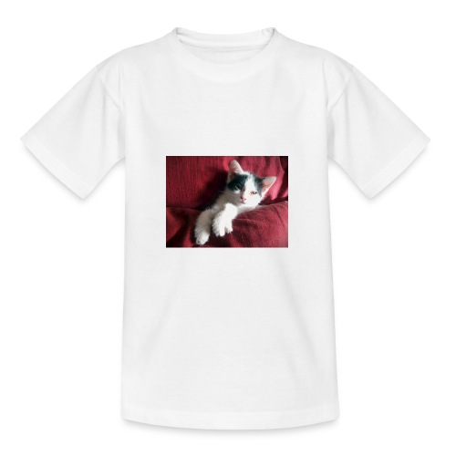 Katze in rot - Teenager T-Shirt