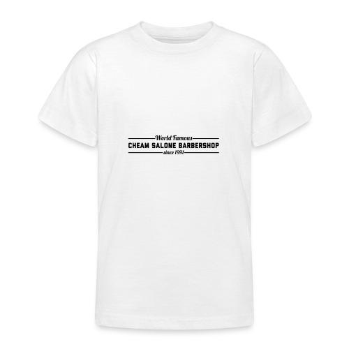 Barbershop black on white. - Teenage T-Shirt