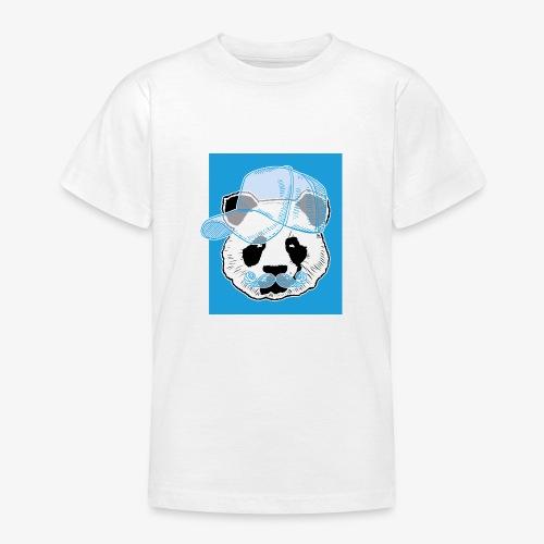 Panda - Cap - Mustache - Teenager T-Shirt
