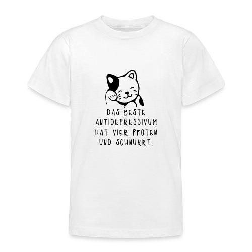 Katzen sind das beste Antidepressivum - Teenager T-Shirt