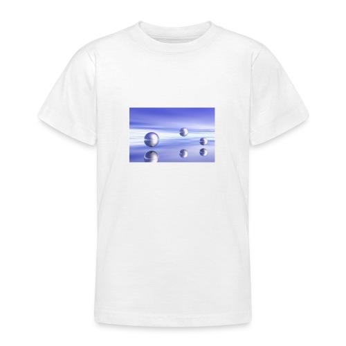 Kugel - Landschaft in 3D - Teenager T-Shirt