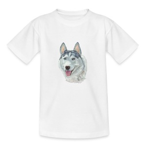 siberian husky_blueeyes - Teenager-T-shirt