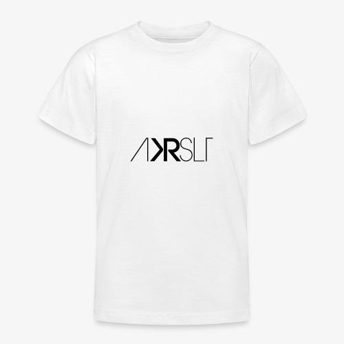 AKRSLT sign black - Teenager T-Shirt