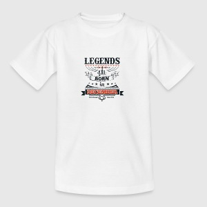 Legends born born birthday gift Young - Teenage T-shirt