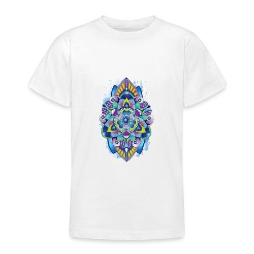 Zentangle watercolour Splash Mandala Design - Teenage T-Shirt