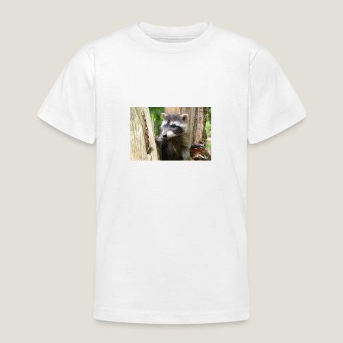 Junger Waschbär - Teenager T-Shirt