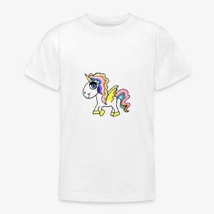 Buntes lässiges Einhorn - Teenager T-Shirt