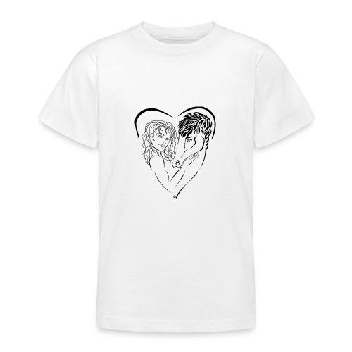 Cheval cavalière passion ❤ FC - T-shirt Ado