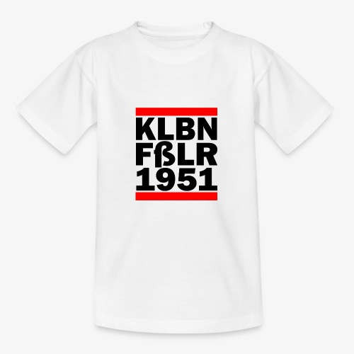 GUEST KLBNFßLER 1951 black - Teenager T-Shirt