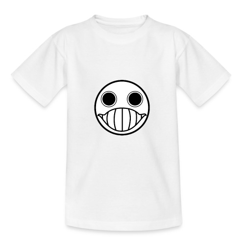 Crazy Cringe Smiley (Schwartz) - Teenager T-Shirt