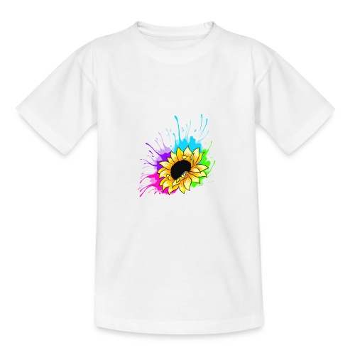 Sonnenblume Splash - Teenager T-Shirt