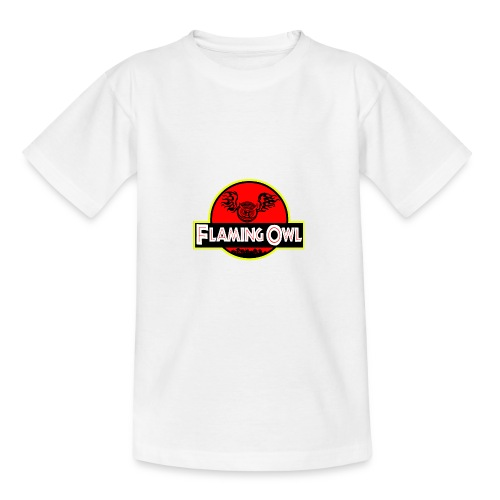 Flaming Jurassic Owl - T-shirt tonåring