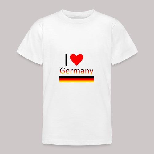 I love Germany - Ich liebe Deutschland - Teenager T-Shirt