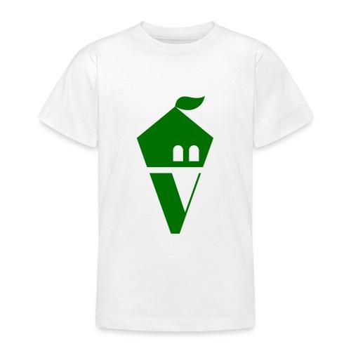 Villekula Logo in Grün auf Schwarz - Teenager T-Shirt