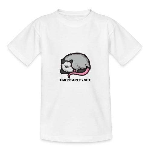 OpossumTS-Logo mit Schrift - Teenager T-Shirt