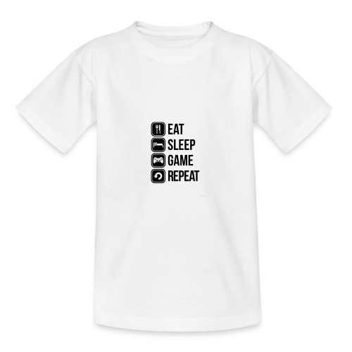 Eat Sleep Game Repeat Collection - Teenage T-Shirt