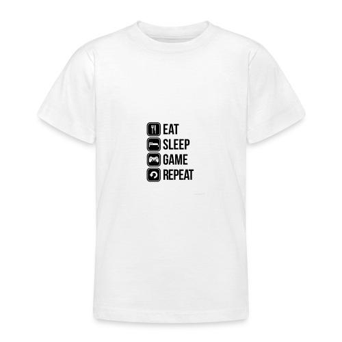 Eat Sleep Game Repeat Collection - Teenage T-shirt