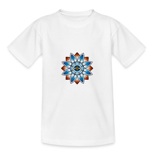 Psychedelisches Mandala mit Auge - Teenager T-Shirt