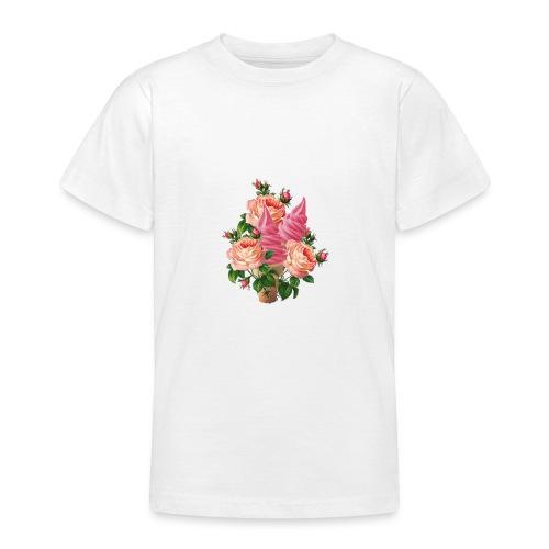 bouquet di fiori e gelati - Maglietta per ragazzi