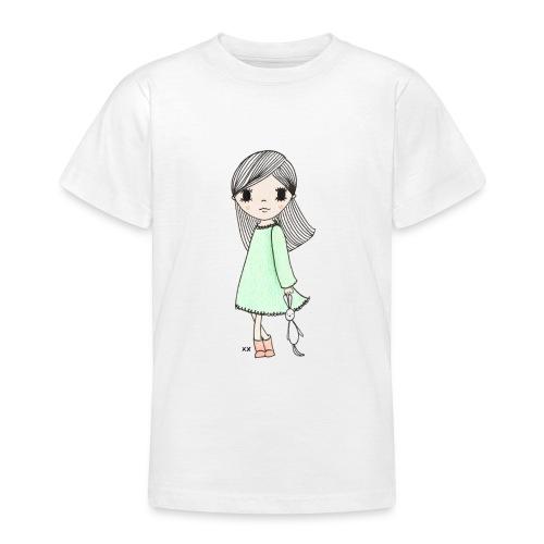 meisje met knuffel - Teenager T-shirt