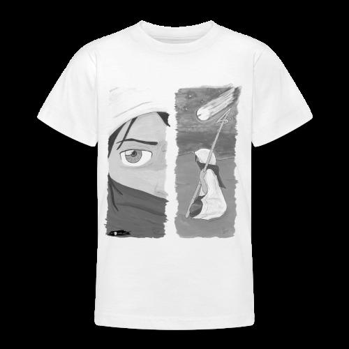 2panels #1 Ankunft (schwarz-weiß) - Teenager T-Shirt