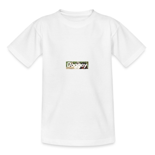 Doggey Pug Box Logo - Teenage T-Shirt