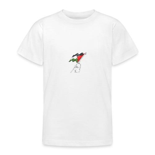 Hvid hættetrøje - Teenager-T-shirt
