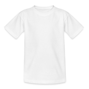 wingbeat logo - big - on back - in white - Teenage T-shirt