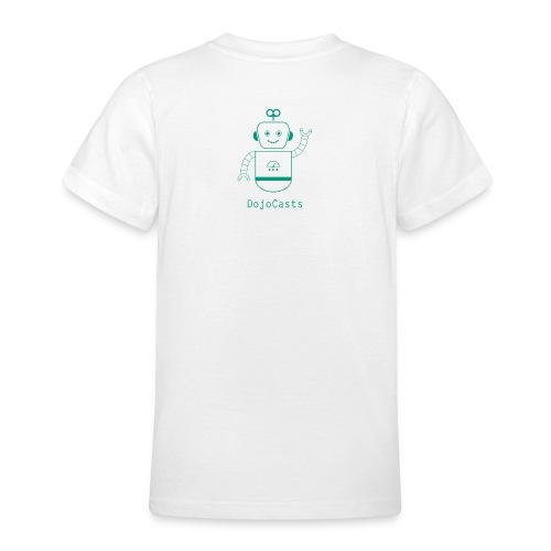 Blanc avec logo dojo vert jette - T-shirt Ado