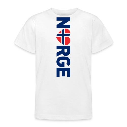 Elsker Norge - fra Det norske plagg - T-skjorte for tenåringer