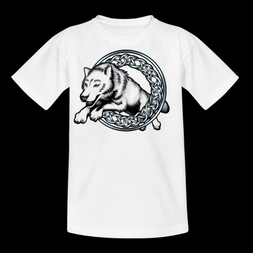 Leaping Wolf - Teenage T-Shirt