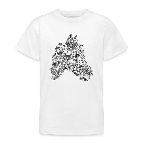 Blumenpferd transp png - Teenager T-Shirt