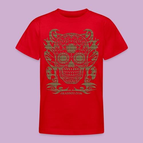 SKULL FLOWERS LEO - Teenager T-Shirt