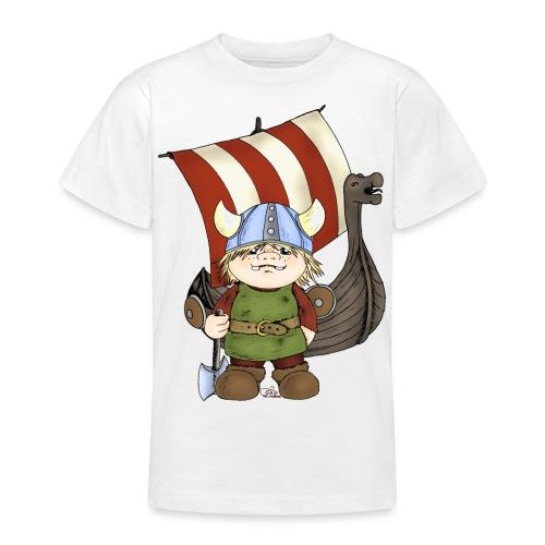 Wikinger Erik mit Schiff - Teenager T-Shirt