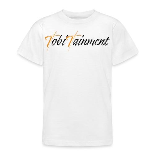 TobiTainment Logo Black - Teenager T-Shirt