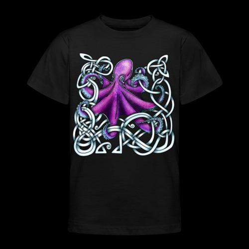 Celtic Octopus - Purple - Teenage T-Shirt