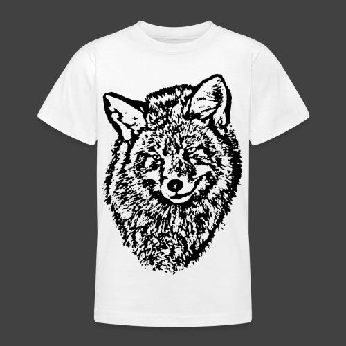 FOX1 - BLACK - Teenage T-Shirt