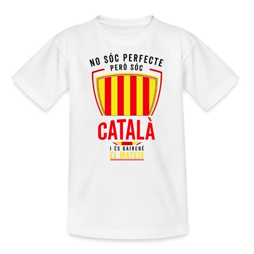 Soc CATALA Catalan Catalunya Catalona Catalonia - Camiseta adolescente