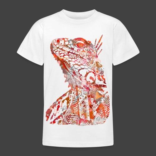 LIZARD1 - RED - Teenage T-Shirt