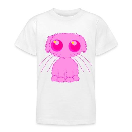 lurvig neonrosa kawaii anime doodle hund - Teenage T-Shirt